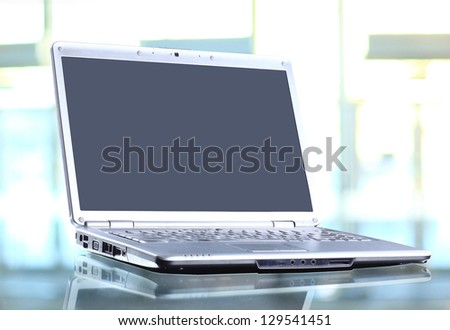 laptop in the office - stock photo