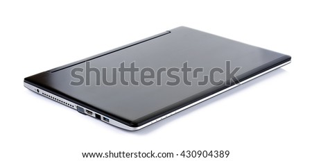Laptop isolated on the white background .