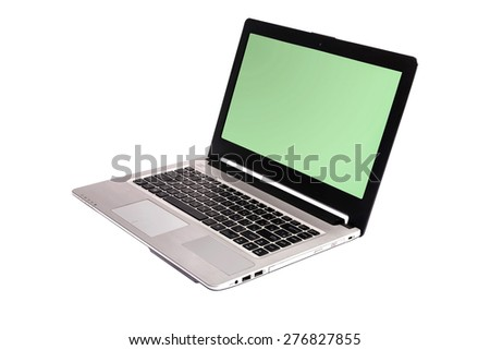 laptop isolated on white background