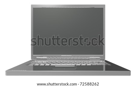 Laptop isolated on white. Computer generated 3D photo rendering.