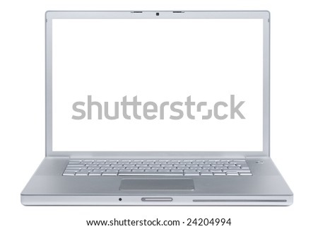 Laptop isolated on whte - stock photo
