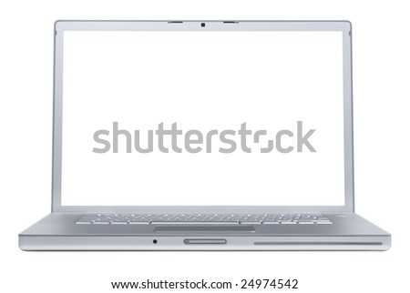 Laptop isolated on whte