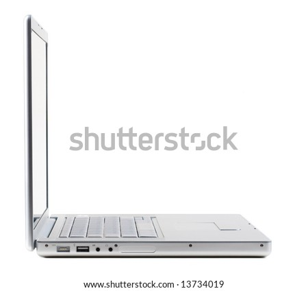 Laptop isolated [with clipping path] - stock photo
