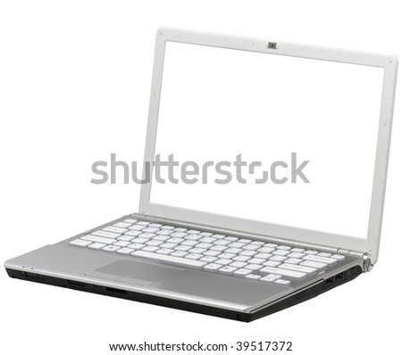 laptop isolated with clipping path over white background
