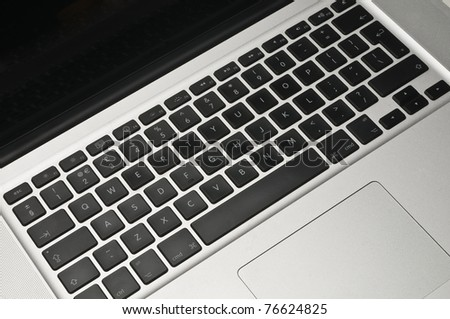 Laptop keyboard isolated against a white background