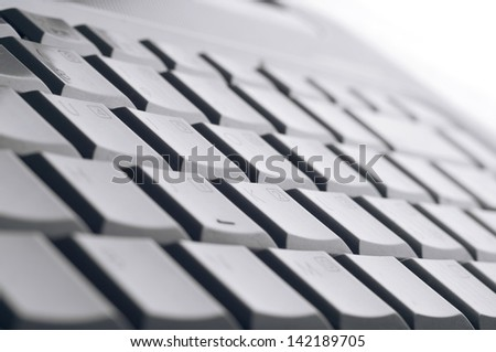 Laptop keyboard isolated on white background