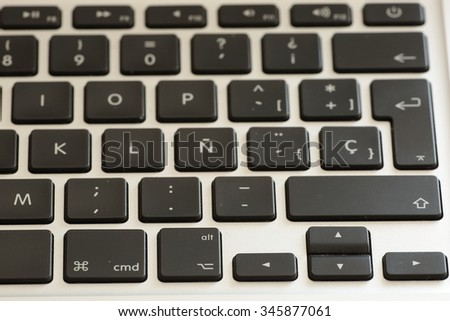 laptop keyboard photographed close
