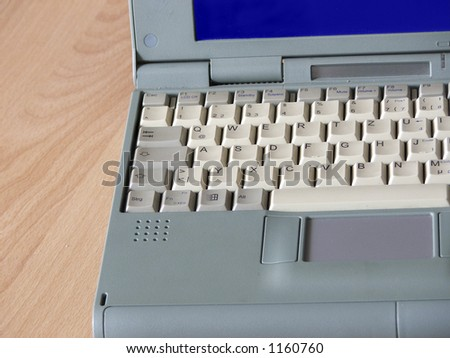Laptop network - stock photo