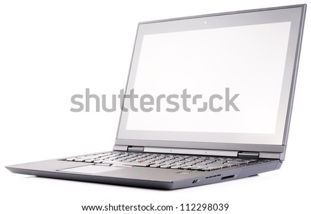 Laptop (notebook) isometric view over white background