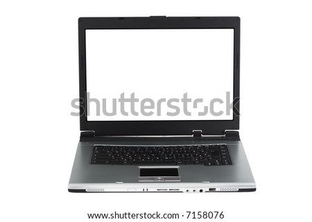 Laptop PC on white background