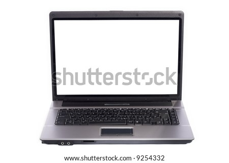 Laptop PC was photographed on white background with 4 flashes