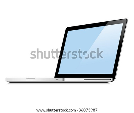 laptop. Raster image. Vector format in EPS is also available in my gallery.