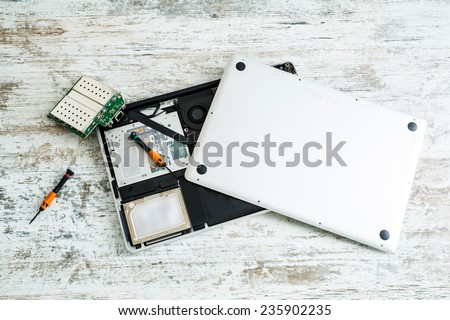 Laptop repair - stock photo