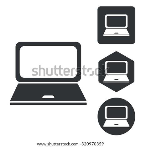 Laptop set - stock photo