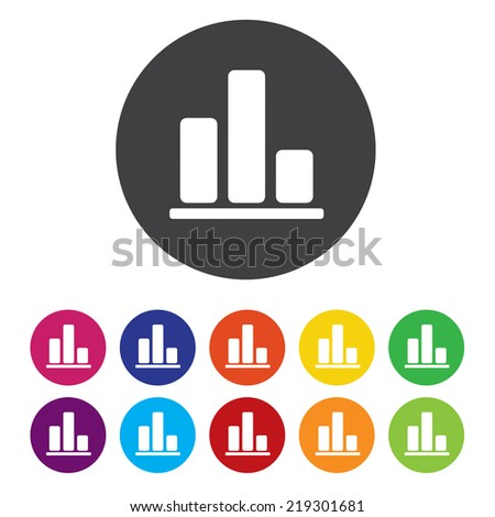 Laptop sign icon. Notebook pc with graph symbol. Monitoring.  - stock photo