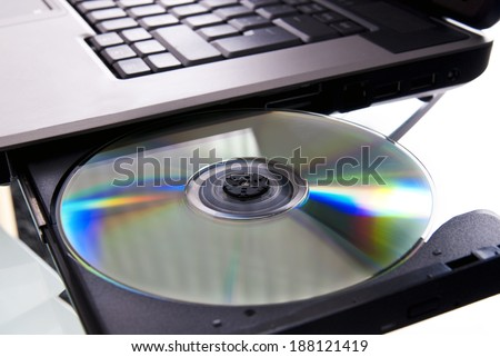 Laptop with CD drive and open the CD inserted