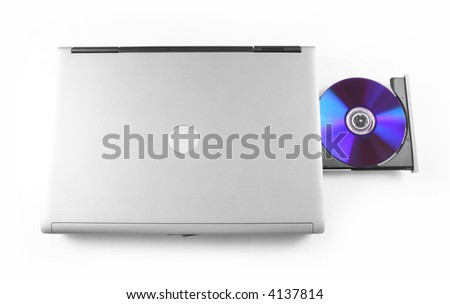 Laptop with CD in drive