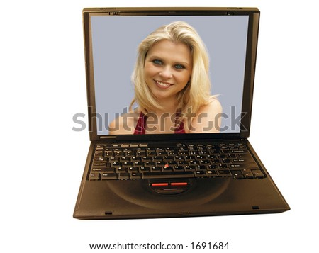 Laptop with Girl