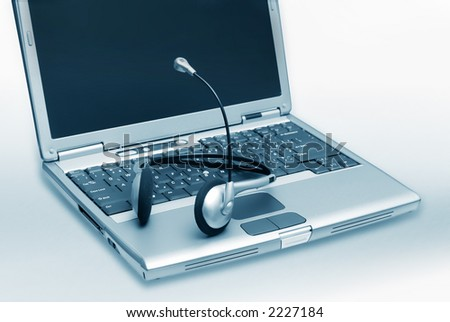 Laptop with Headset