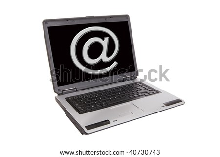laptop with the simbol of internet