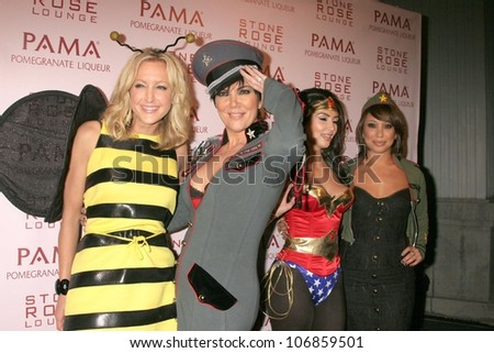 Lara Spencer, Kris Jenner, Kim Kardashian and Cheryl Burke  at PAMA's Halloween Masquerade, Stone Rose, Los Angeles, CA. 10-30-08