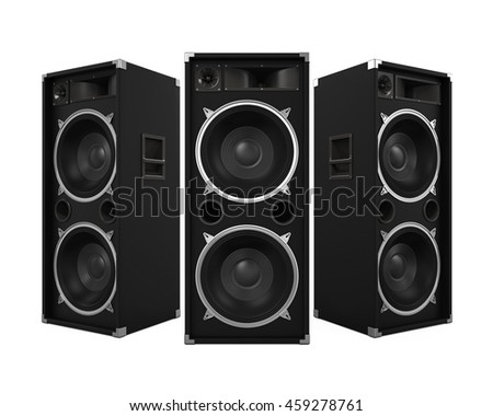 Large Audio Speakers. 3D rendering