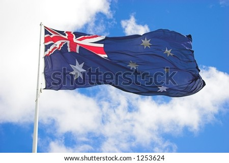 Large Australian Flag Close up