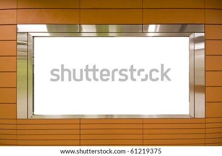 Large Billboard for advertisement use and brown background - stock photo