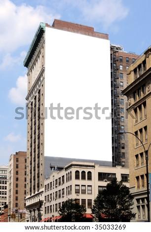 Large Billboard in New York City - stock photo