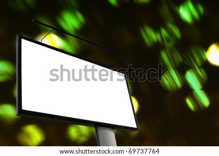Large blank billboard - stock photo
