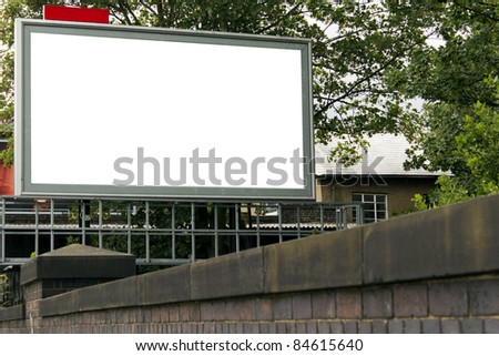 Large blank billboard for your design - stock photo