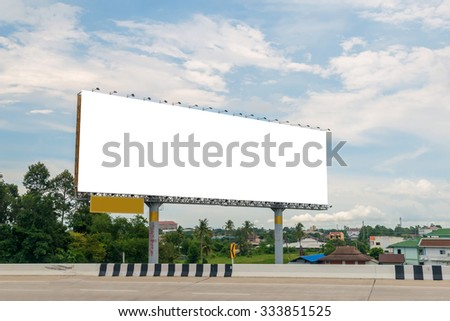 large Blank billboard ready for new advertisement.