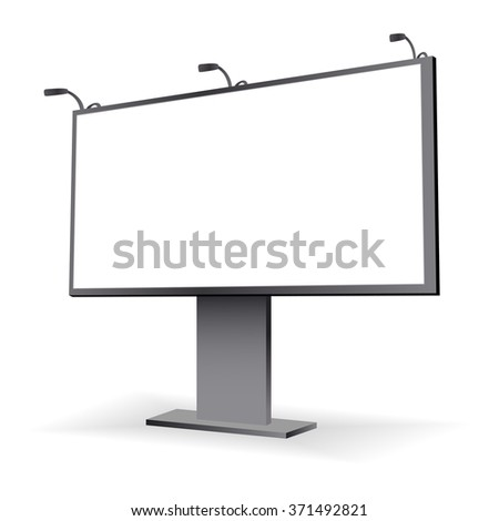 Large blank, empty, white billboard screen on background for you advertisement and design - stock photo
