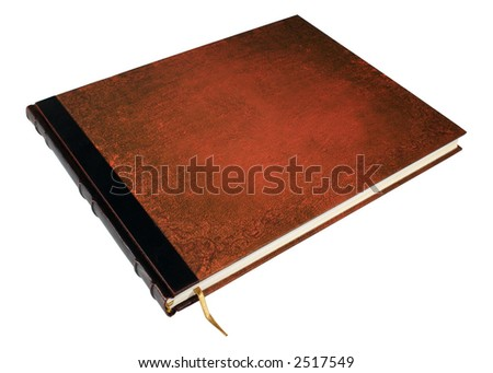 Large book isolated with clipped path - stock photo