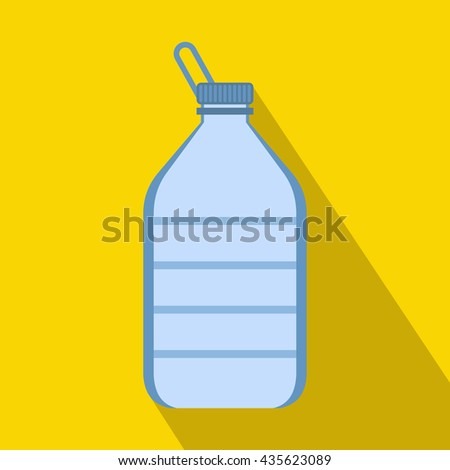 Large bottle of water icon, flat style - stock photo