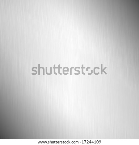 Large Brushed Metal Plate - stock photo