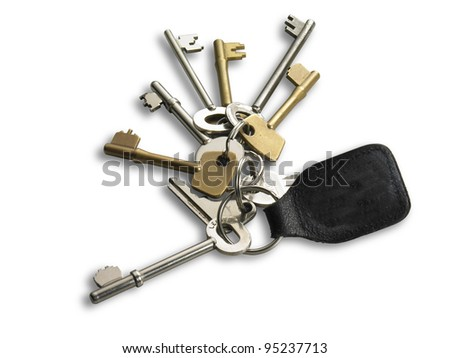large bunch of keys - stock photo