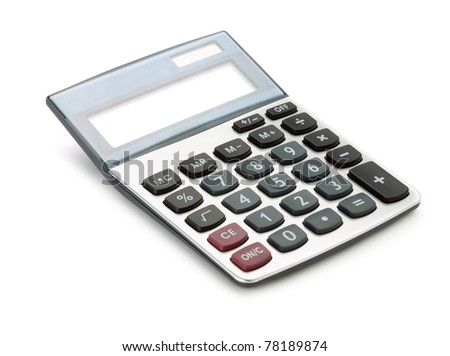 Large calculator. Isolated on white background