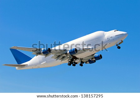 Large cargo carrier plane - stock photo
