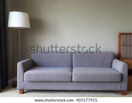 Large chair in living room, Image of interior apartment in Thailand - stock photo