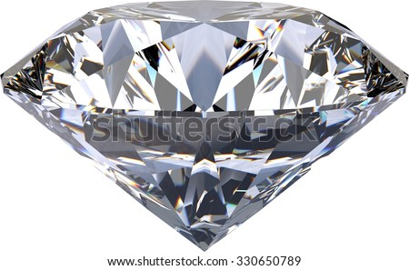 Large Clear Diamond - stock photo
