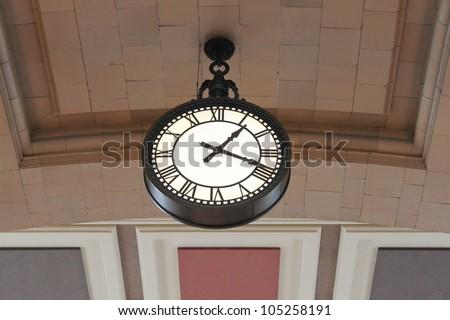 Large clock - stock photo