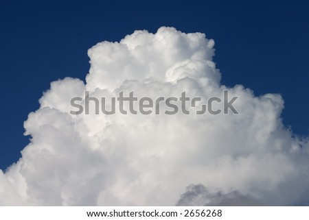 Large cloud - stock photo
