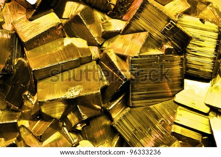 Large Cluster of pyrite, also known as Fool's Gold - stock photo
