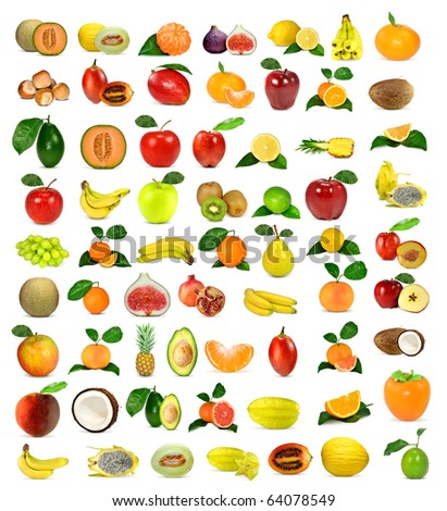 large collection of fruit - stock photo