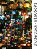 Large collection of typical Tuskish Lanterns on sale in the Grand Bazaar of Istanbul, Turkey - stock photo