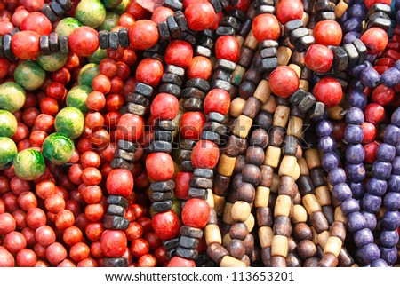Large colored beads, art background for design, necklace photo