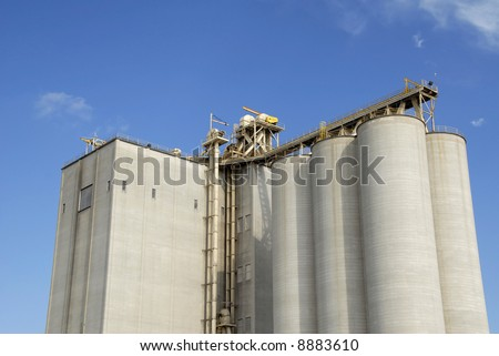Large Commercial Grain Elevator - stock photo