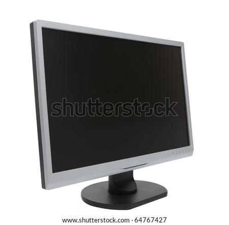Large Computer Monitor - stock photo