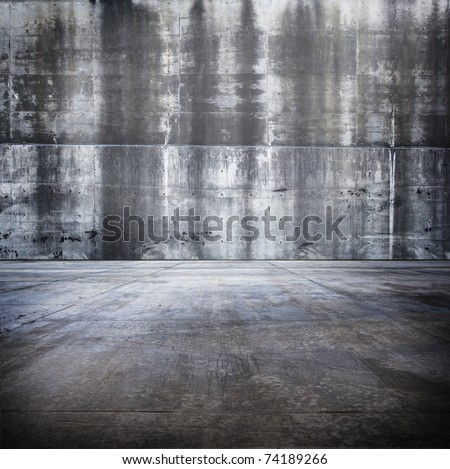 Large concrete compound or space. - stock photo